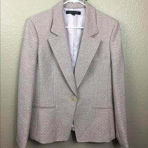 Anne Klein pink and tan blazer size 14